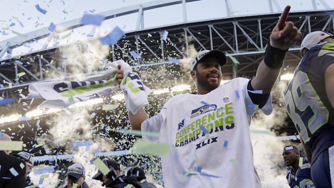 Russell Wilson NFC Champ 2015